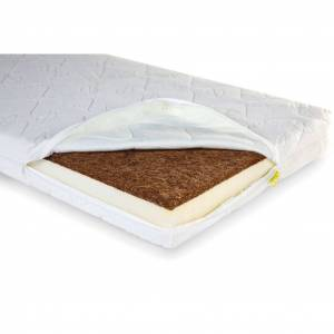 CHILDHOME Bäddmadrass Duo Kokos Natural Safe Sleeper 120x60x12 cm
