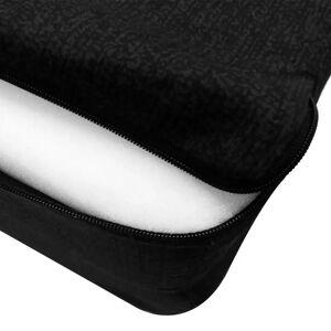 vidaXL Tredelad skummadrass 190 x 70 x 9 cm svart
