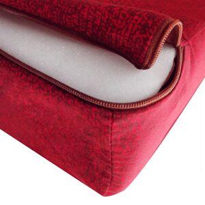 vidaXL Tredelad skummadrass 190 x 70 x 9 cm röd