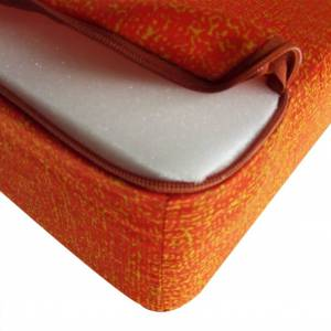 vidaXL Tredelad skummadrass 190 x 70 x 9 cm orange