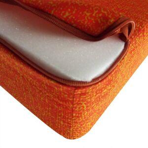 vidaXL Tredelad skummadrass 190 x 70 x 9 cm orange