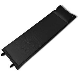 vidaXL Svart självuppblåsbart liggunderlag 185 x 55 x 3 cm (enkelsäng)