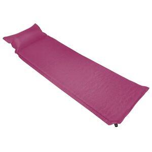 vidaXL Luftmadrass med kudde 66x200 cm rosa
