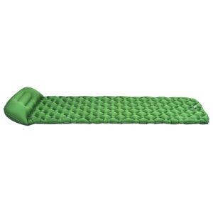 vidaXL Luftmadrass med kudde 58x190 cm grön
