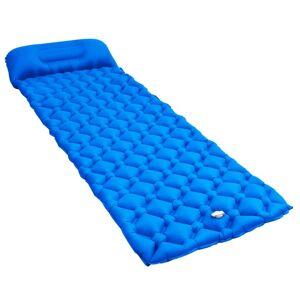 vidaXL Luftmadrass med kudde 58x190 cm blå