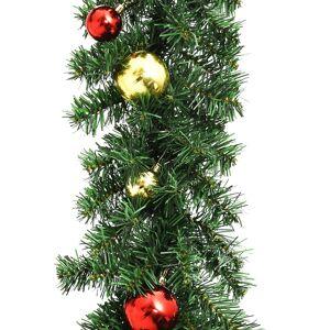 vidaXL Julgirlang med julgranskulor 10 m