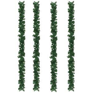 vidaXL Julgirlanger 4 st grön 270 cm PVC