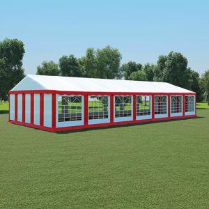 vidaXL Partytält PVC 6x14 m röd och vit