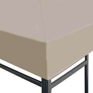 vidaXL Paviljongtak 310 g/m² 3x3 m beige