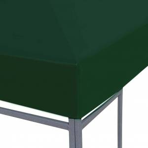 vidaXL Paviljongtak 310 g/m² 3x3 m grön