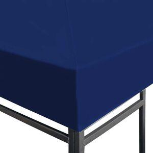 vidaXL Paviljongtak 310 g/m² 3x3 m blå