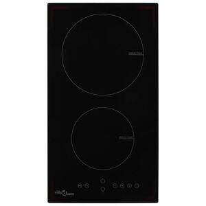vidaXL Induktionshäll med 2 plattor touchkontroll glas 3500 W