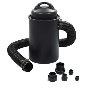 vidaXL Dammuppsamlare med adapter svart 1100 W