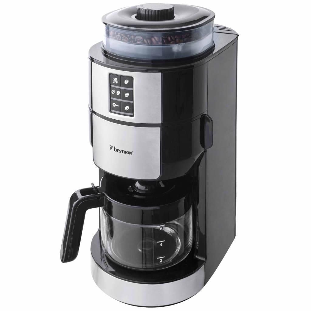 Bestron Kaffebryggare med kvarn 820 W rostfritt stål ACM1100G