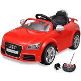 vidaXL Elbil för barn Audi TT RS med fjärrstyrning röd