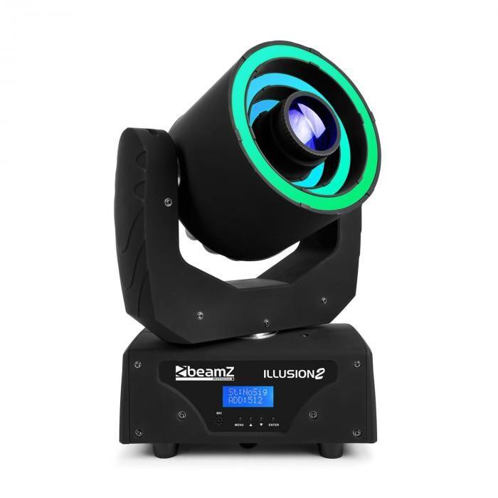 Beamz Illusion 2 30W LED vit 3in1 SMD RGB LED-Ring DMX/Standalone Svart