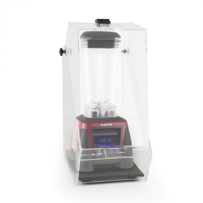 Klarstein Herakles 8G Ståmixer Röd med Cover 1800W 2,4 PS 2 Liter BPA-fri
