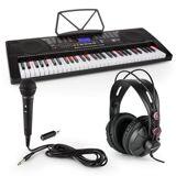 SCHUBERT Etude 225 USB Inlärnings-keyboard med Hörlurar, mikrofon och JACK-adapter