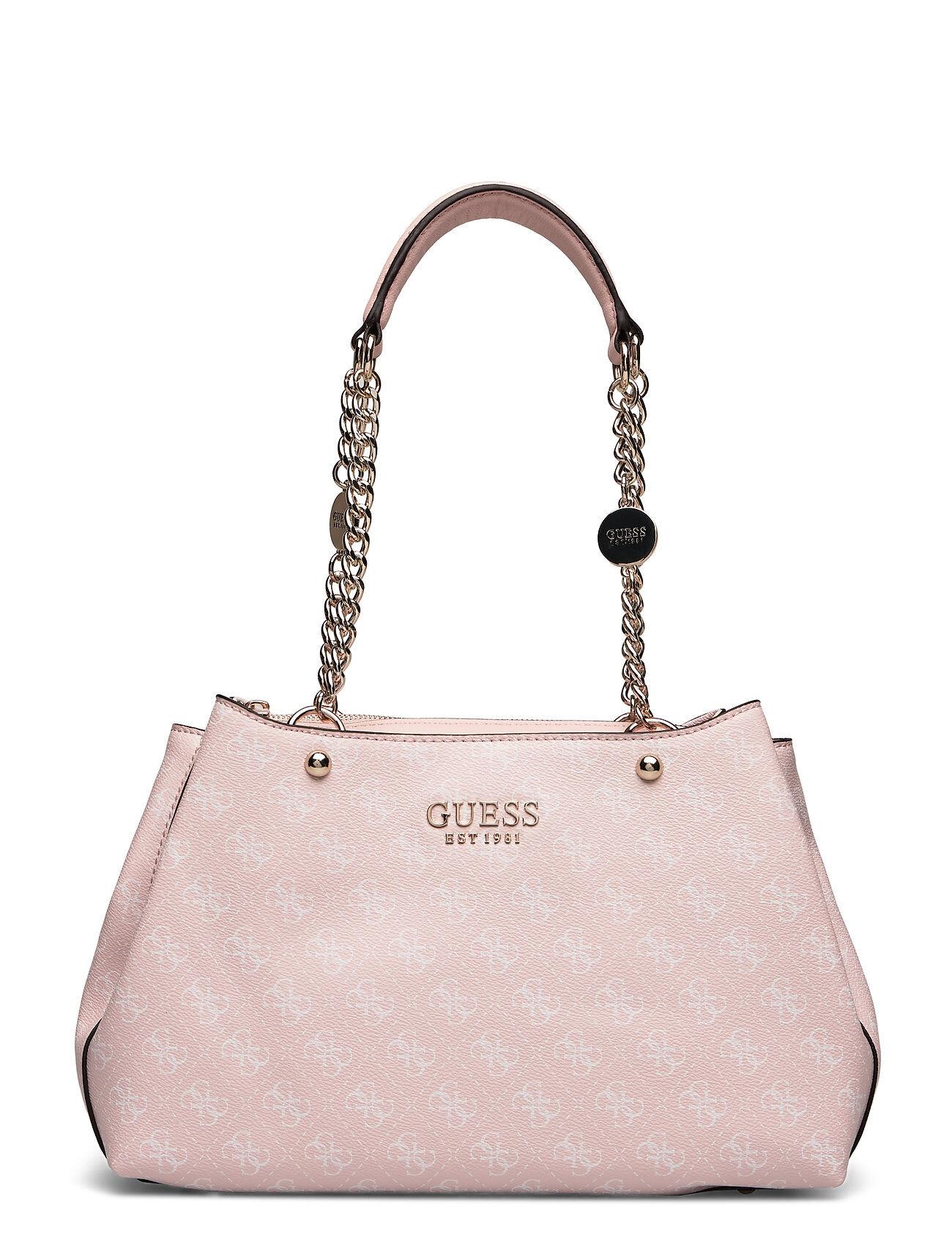 GUESS Lorenna Girlfriend Satchel Bags Top Handle Bags Rosa GUESS