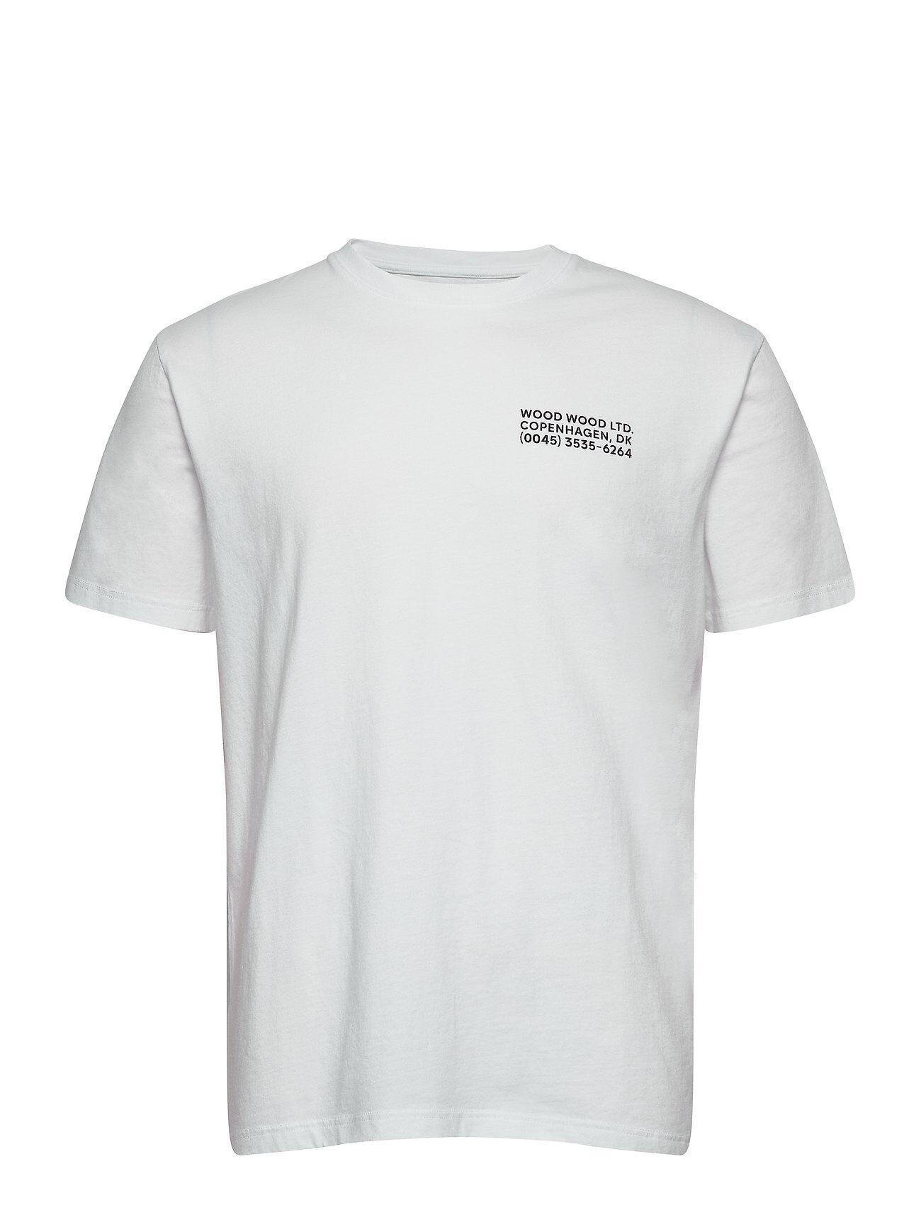 Wood Wood Info T-Shirt T-shirts Short-sleeved Vit Wood Wood