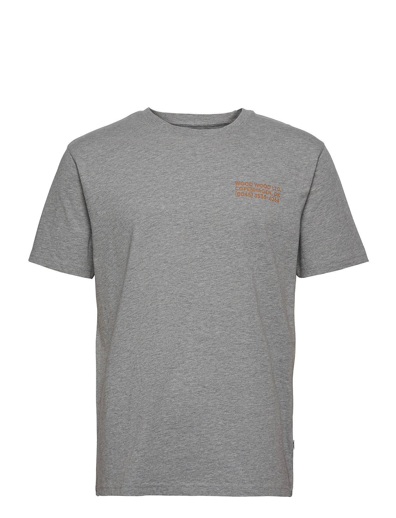 Wood Wood Info T-Shirt T-shirts Short-sleeved Grå Wood Wood