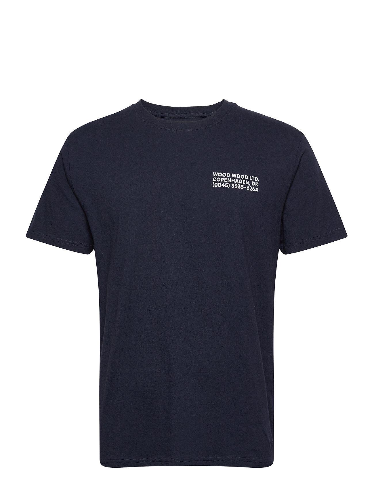 Wood Wood Info T-Shirt T-shirts Short-sleeved Blå Wood Wood