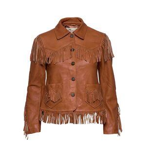 ODD MOLLY The Leather Jacket Läderjacka Skinnjacka Brun ODD MOLLY