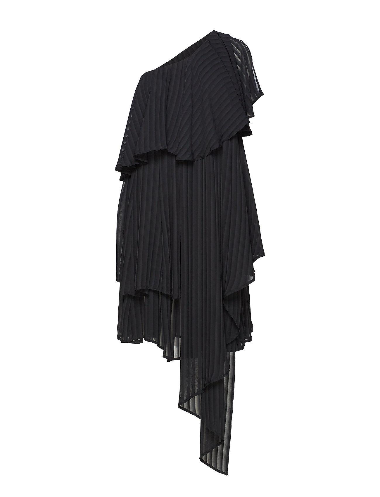 DESIGNERS, REMIX Draped -Shoulder Dress Knälång Klänning Svart DESIGNERS, REMIX