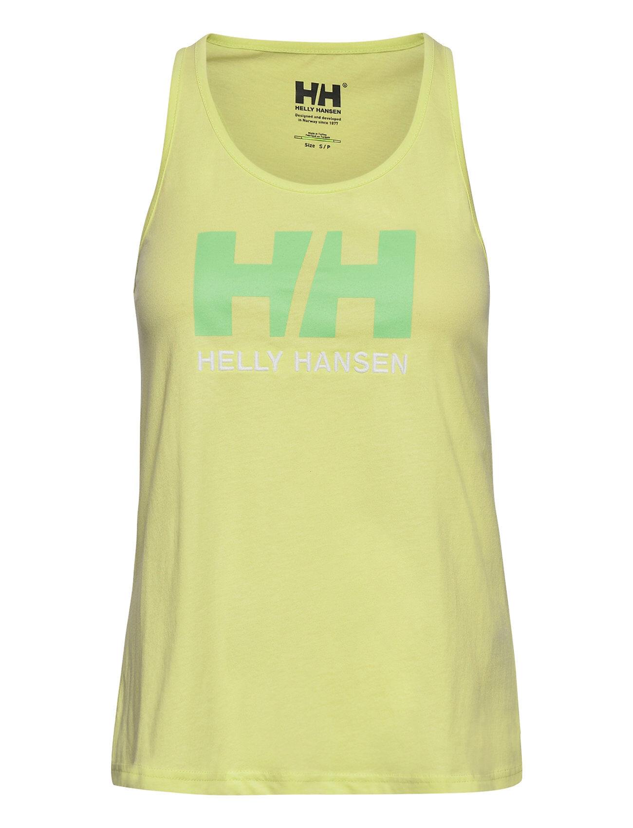 Helly Hansen W Hh Logo Singlet T-shirts & Tops Sleeveless Gul Helly Hansen