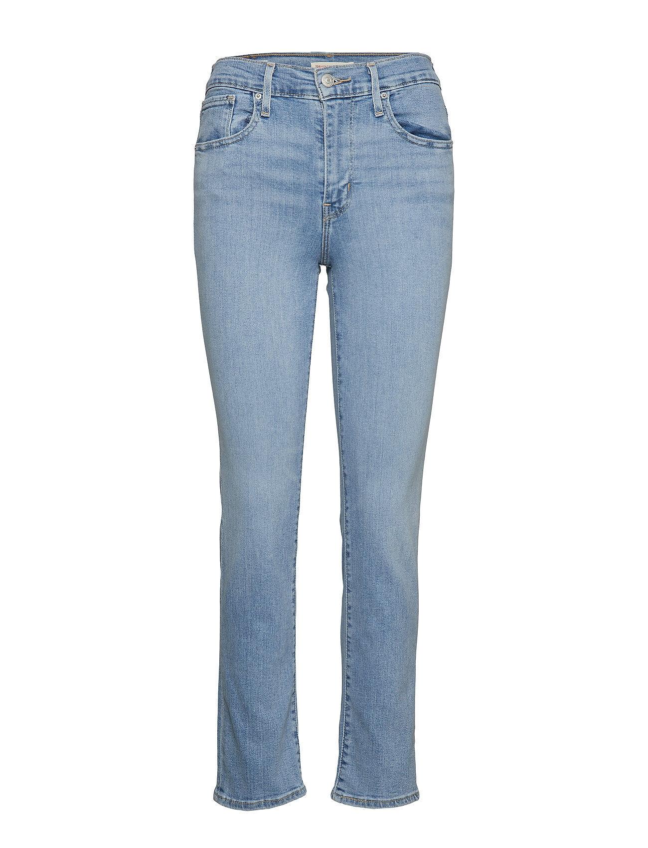 LEVI´S Women 724 High Rise Straight San Fra Slimmade Jeans Blå LEVI´S Women