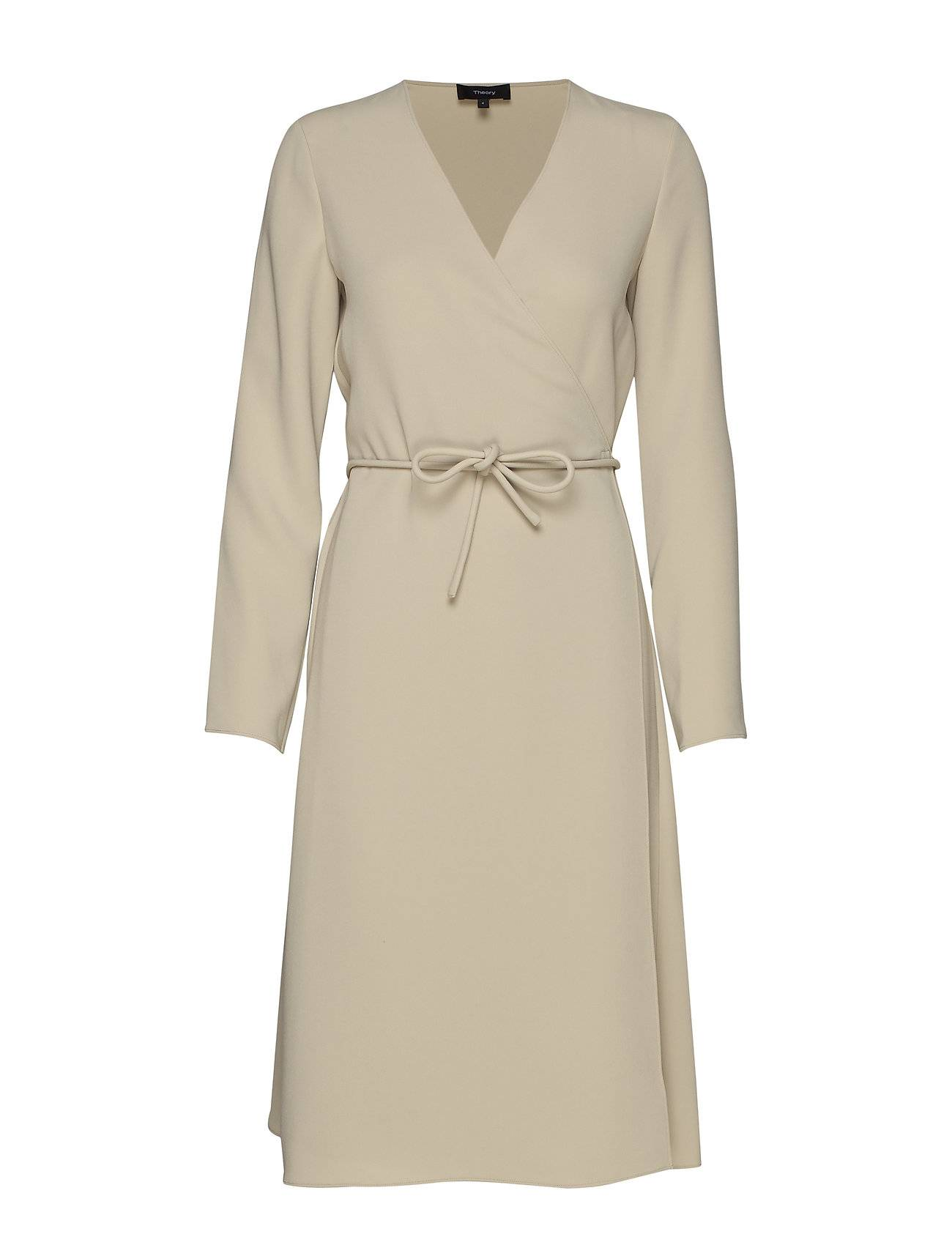 Theory Belted Wrap Dr.Class Knälång Klänning Beige Theory
