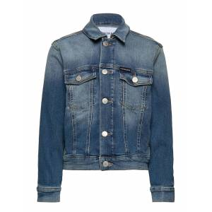 Calvin Boys Trucker - Mngr Outerwear Jackets & Coats Denim & Corduroy Blå Calvin Klein