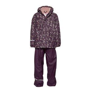 CeLaVi Rainwear -Aop W. Fleece W. Printed Jacket Outerwear Rainwear Sets & Coveralls Lila CeLaVi