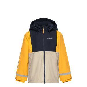 Didriksons Block Kids Jkt Outerwear Shell Clothing Shell Jacket Gul Didriksons