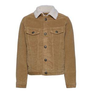 Jack & Jones Jjialvin Jjsherpa Corduroy Akm555 Jr Outerwear Jackets & Coats Denim & Corduroy Brun Jack & J S
