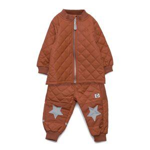Mikk-Line Duvet Set Without Fleece Outerwear Thermo Outerwear Brun Mikk-Line