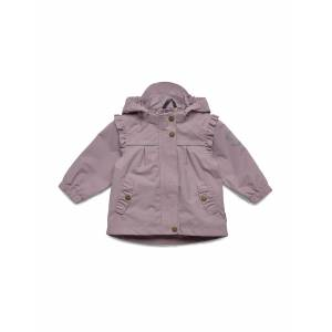 Mikk-Line Nylon Baby Girls Jacket Outerwear Shell Clothing Shell Jacket Lila Mikk-Line