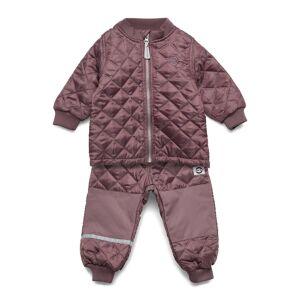 Mikk-Line Thermo Set - No Fleece Outerwear Thermo Outerwear Thermo Suits Lila Mikk-Line