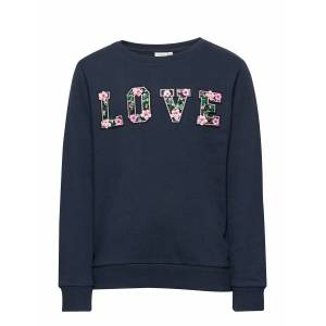 name it Nkfbernadette Ls Sweat Unb Sweat-shirt Tröja Blå Name It