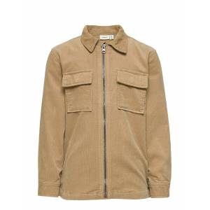 name it Nkmabac Cord Ls Shirt Ct Outerwear Jackets & Coats Denim & Corduroy Beige Name It
