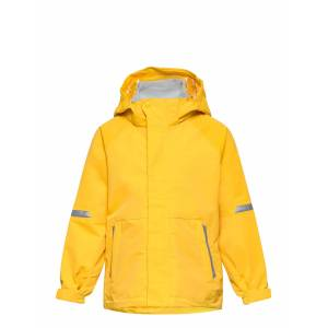 Polarn O. Pyret Jacket Shell Solid Outerwear Shell Clothing Shell Jacket Gul Polarn O. Pyret
