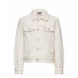 Tommy Hilfiger Girls Boxy Trucker Nadc Outerwear Jackets & Coats Denim & Corduroy Creme Tommy Hilfiger