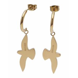 Bud to rose Dove Earring Steel Smycke Guld Bud To Rose