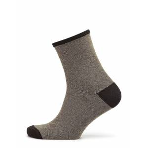 BECKSÖNDERGAARD Dina Solid Coll. Lingerie Hosiery Socks Guld BECKSÖNDERGAARD