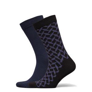 Björn Borg Sock Ankle Bb Square Underwear Socks Regular Socks Blå Björn Borg
