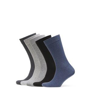 Björn Borg 5p Sock Noos Essential Underwear Socks Regular Socks Grå Björn Borg
