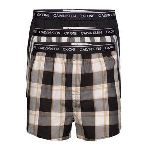 Calvin Slim Fit Boxer 3pk Boxerkalsonger Multi/mönstrad Calvin Klein