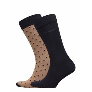 Gant 2-Pack Solid And Dot Socks Underwear Socks Regular Socks Multi/mönstrad Gant