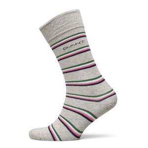 Gant D1. 1 Pack Multi Stripe Underwear Socks Regular Socks Grå Gant