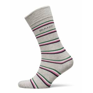 Gant D1. 1 Pack Multi Stripe Underwear Socks Regular Socks Grå Gant